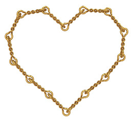 Golden heart of twisted links