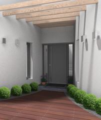 Hauseingang modern