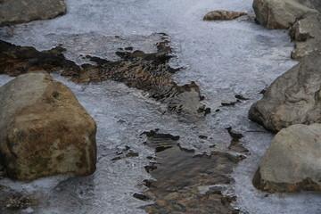 rivière gelée