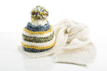 Wollmütze und Schal