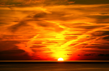 Sunset in Liguria Italy
