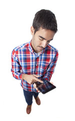 Young man using a tablet
