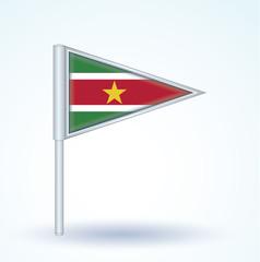 Flag set of Suriname, vector illustration