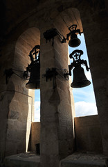 Bell tower of the Cathedral of Caceres, Extremadura, Spain