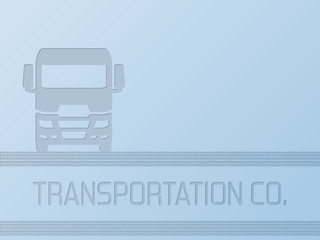 Truck advertisement background design