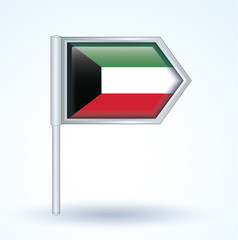 Flag set of Kuwait, vector illustration