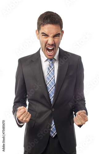canvas print picture Frustrated businessman
