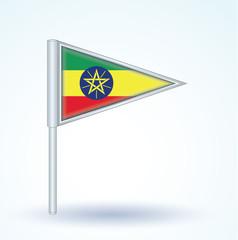 Flag set of Ethiopia, vector illustration