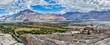 Panorama of Nubra valley in Himalayas
