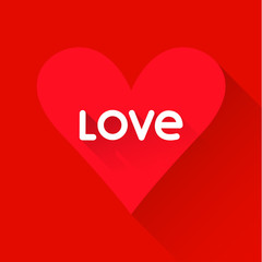 bright colored heart on red background for use in design for val