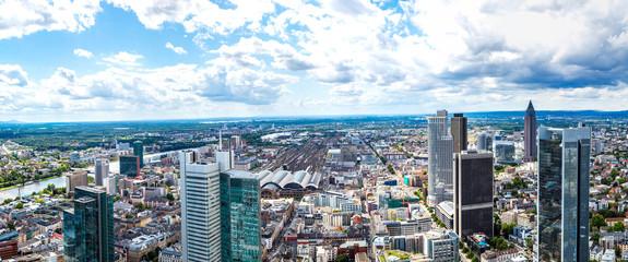 Financial district in Frankfurt