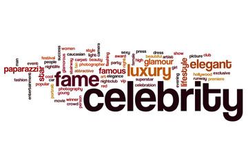Celebrity word cloud