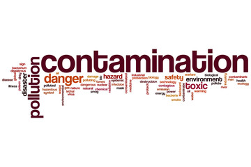 Contamination word cloud