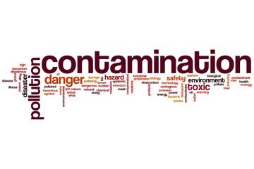 Contamination word cloud
