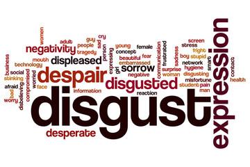 Disgust word cloud
