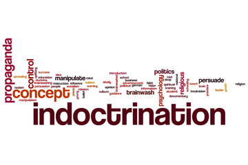 Indoctrination word cloud