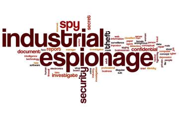 Industrial espionage word cloud