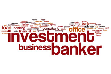 Investment banker word cloud