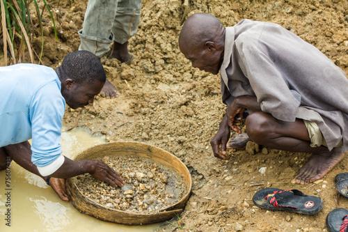 Diamentenschürfen in Sierra Leone