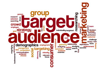 Target audience word cloud