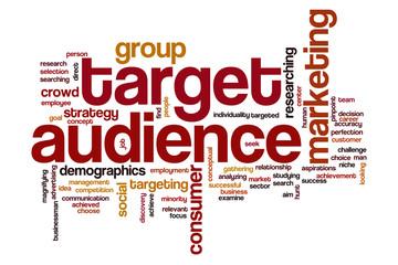 Target audience word cloud