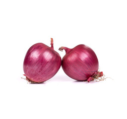 Two red onions.