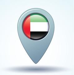 Flag set of United Arab Emirates, vector illustration