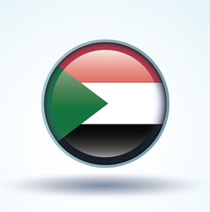 Flag set of Sudan, vector illustration