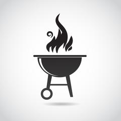 Barbecue vector icon.