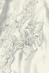 Beautiful wedding dress detail
