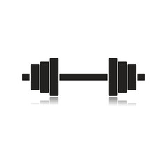 dumbbels - vector icon