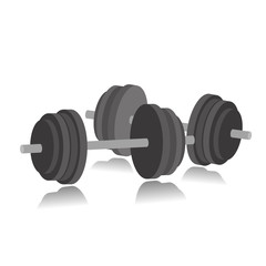 Fitness icon dumbbell workouts