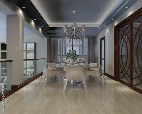 canvas print picture 3D Interior design
