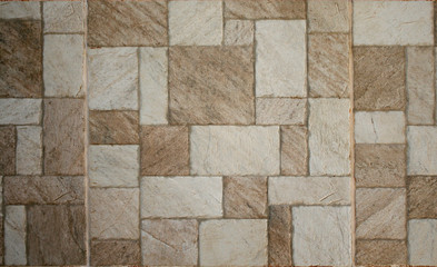 Brown marble-stone mosaic texture