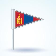 Flag set of Mongolia, vector illustration