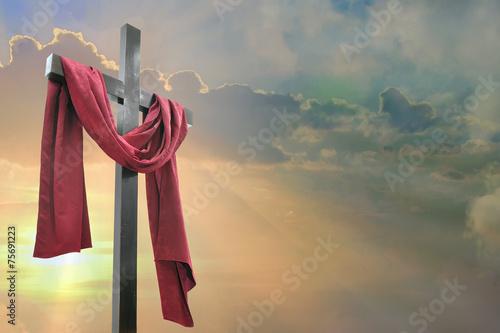 Zdjęcia na płótnie, fototapety, obrazy : cross against the sky