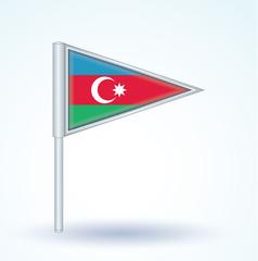 Flag set of Azerbaijan, vector illustration