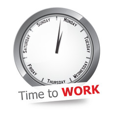 Monday time to work clock