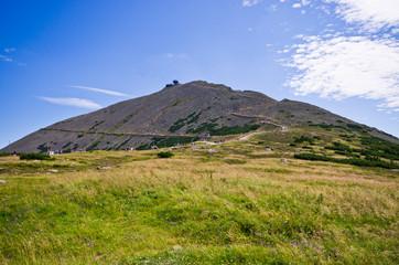 Snezka mountain - highest in Czech Republic