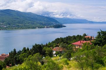 Green scenery in Ohrid, Macedonia