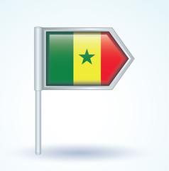 Flag set of Senegal, vector illustration