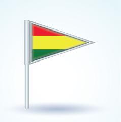 Flag set of Bolivia, vector illustration