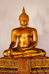 Sitting Buddha statue close up, Thailand