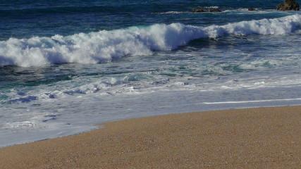 Waves Crashing on Beach, slow motion