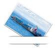 photo de navire porte-containers en mer