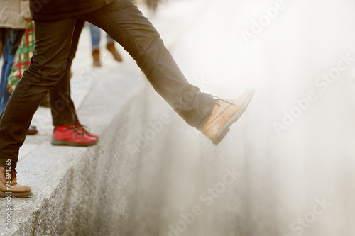 Taking the step into the unknown - 75694265