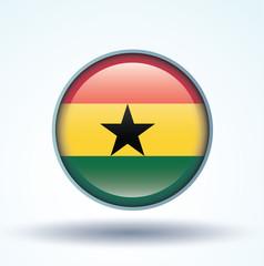 Flag set of Ghana, vector illustration