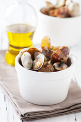 Bowl of Delicious Fresh Steamer Clams