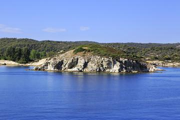 Sithonia peninsula in the Aegean Sea