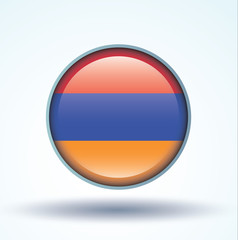 Flag set of Armenia, vector illustration